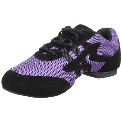 Sansha Salsette 1 Jazz Sneaker,Purple/Black,10 Sansha (8.5 M US