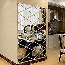 Triangles Wall Art Acrylic Mirror Wall Sticker House Decoration 3D DIY 8C