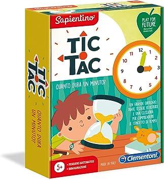 Reloj Juego Educativo 5 a/ños Sapientino La Emoci/ón di Aprendare-Tic TAC Cuanto Dura Un Minuto-Made in Italy-Play for Future Clementoni 16244