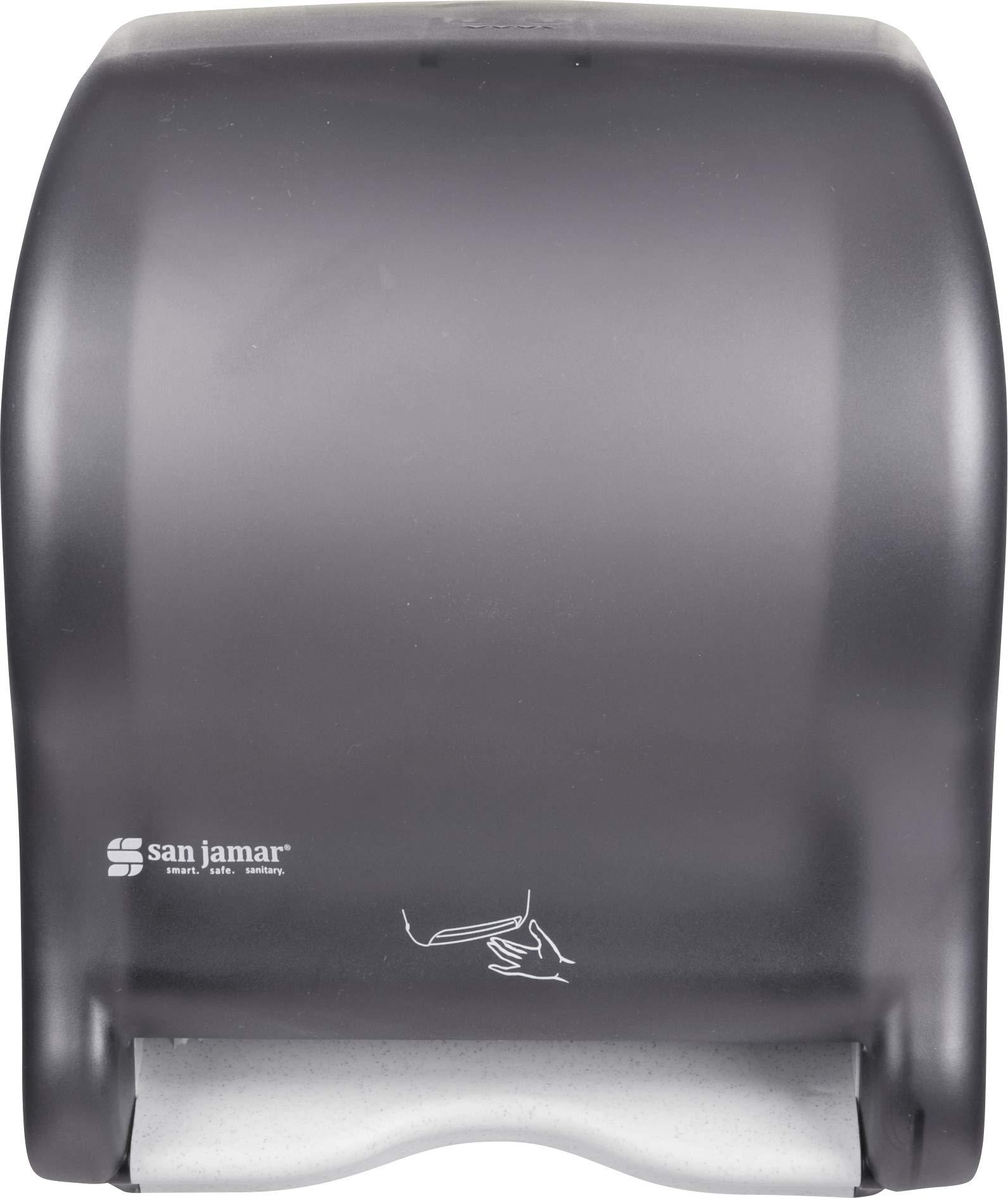 San Jamar T8400TBK Smart Essence Electronic Roll Towel Dispenser, 11.8w x 9.1d x 14.1''h, Black, Plastic by San Jamar (Image #4)