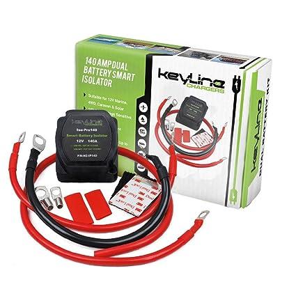 amazon com 140 amp dual battery smart isolator atv utv wiring kit rh amazon com Baja 50Cc ATV Wiring Yamaha ATV CDI Wiring Diagrams