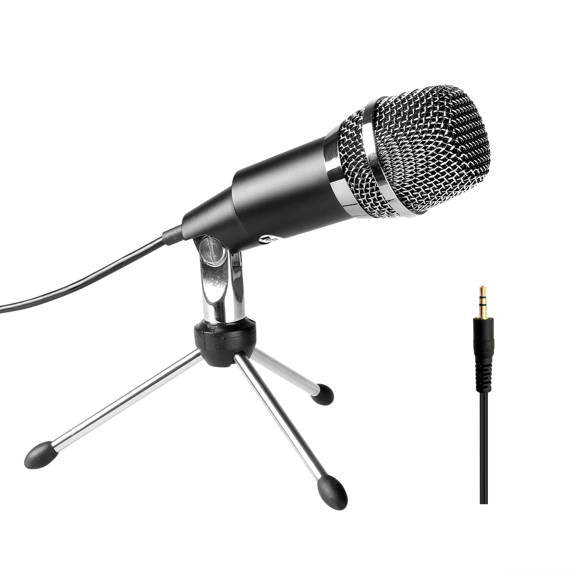 FIFINE TECHNOLOGY Microphone Condenser 3.5mm Fifine Plug and Play Microphones For Computer PC Online Chat,Omnidirectional Microphone For Skype,YouTube,Google Voice Search, Games-K667