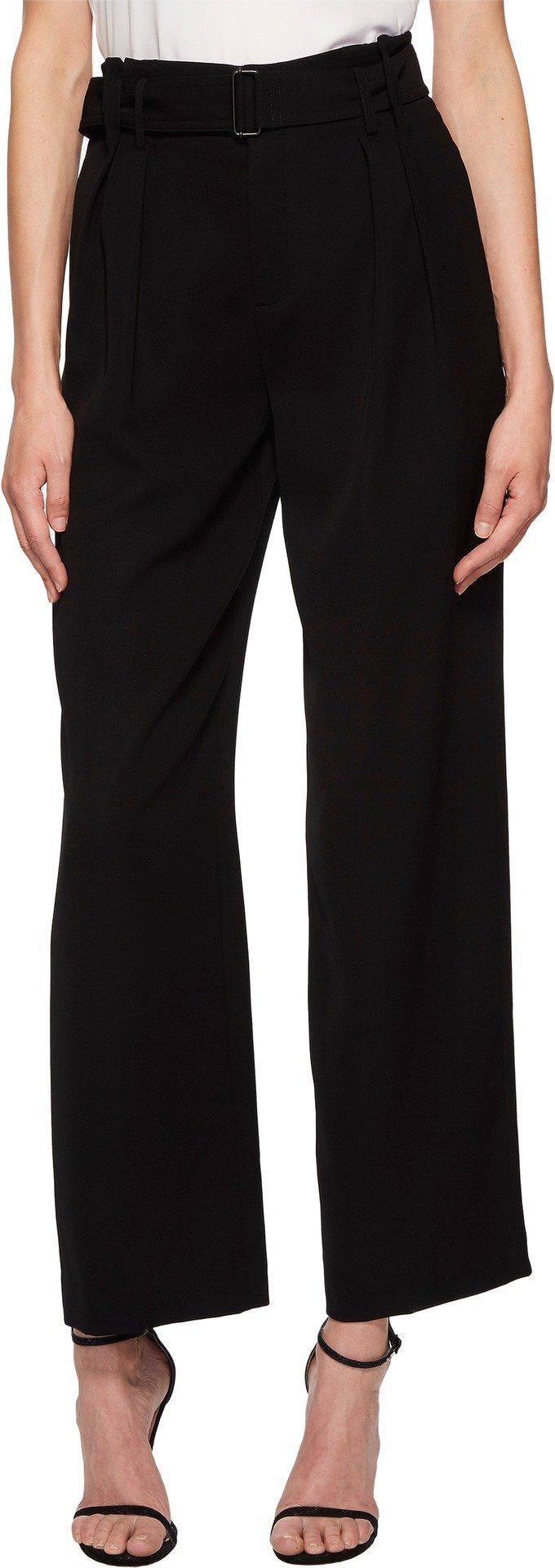 Vince Women's Belted Wide Leg Pants Black 6