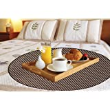 Dream Care Printed Waterproof & Oilproof Round Bed Server Food Mat (Size(LXB): 36x36 inches) SAMS28