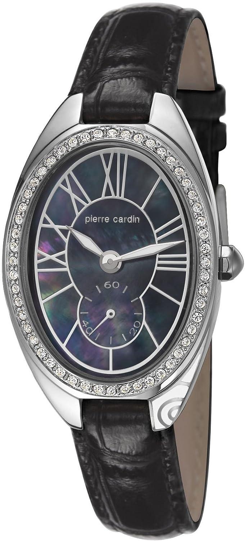 Pierre Cardin Damen-Armbanduhr Merveille Analog Quarz Leder
