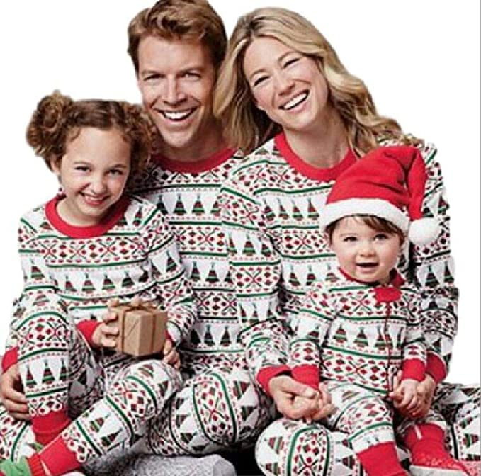 a7c4acd616 amazoncom matching family pjs christmas entire family jammies cotton  pajamas sets best kids sleepwear xmas a1