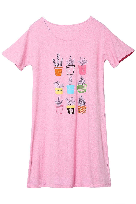 Jashe Big Girls Summer Nightgowns 95% Cotton Super Soft Short Sleeve/Sleeveless Pajama Kids Size 8-14