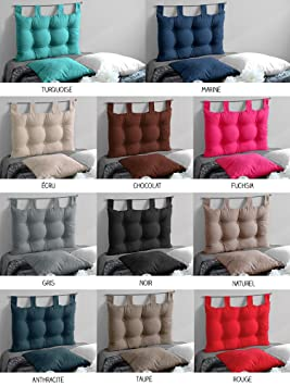 cabecero de cama acolchado x cm varios colores