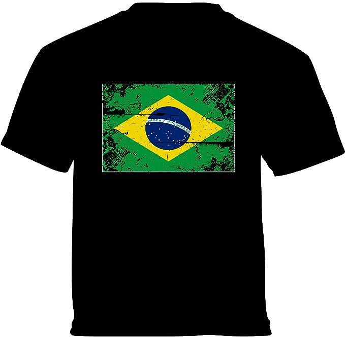 Amazon.com: Vizor bandera de Brasil, bebé camisa Niños ...