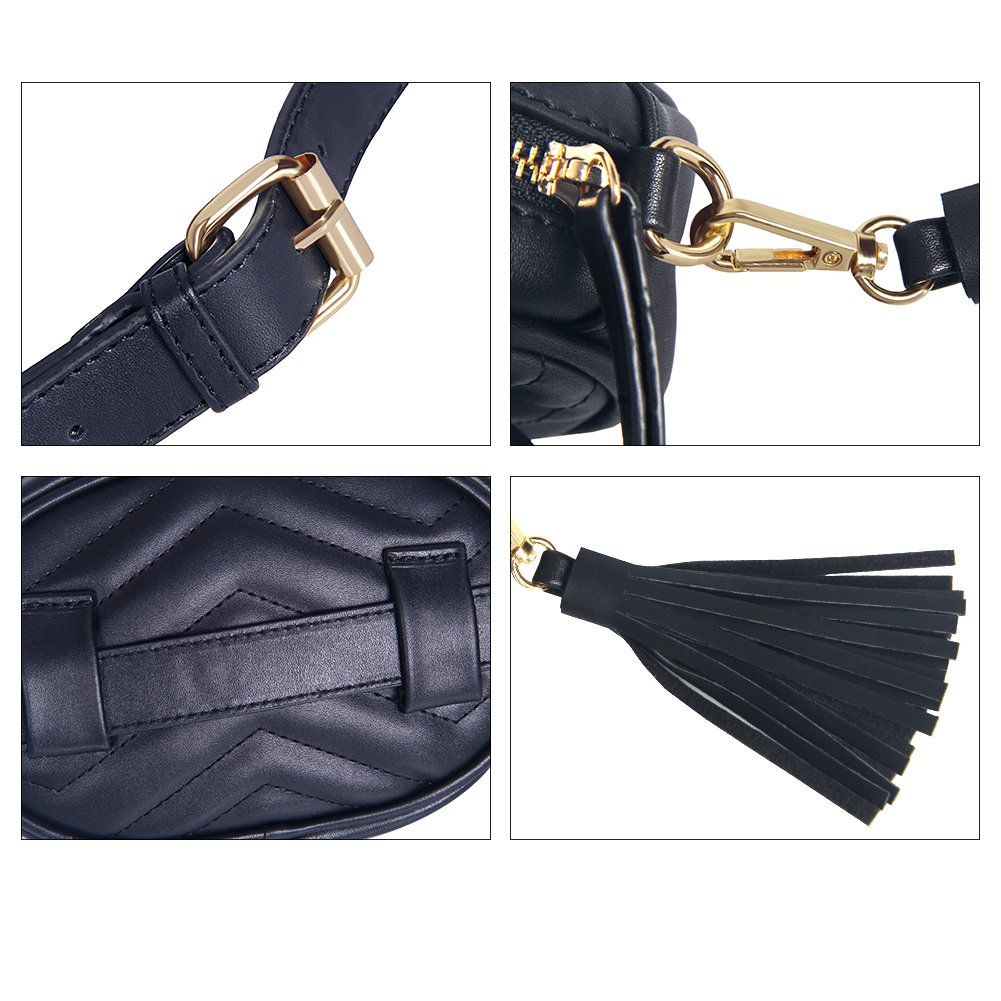 Kukoo Women Leather Waist Belt Bag Elegant Fanny pack Cell Phone Money Pouch by Kukoo (Image #9)