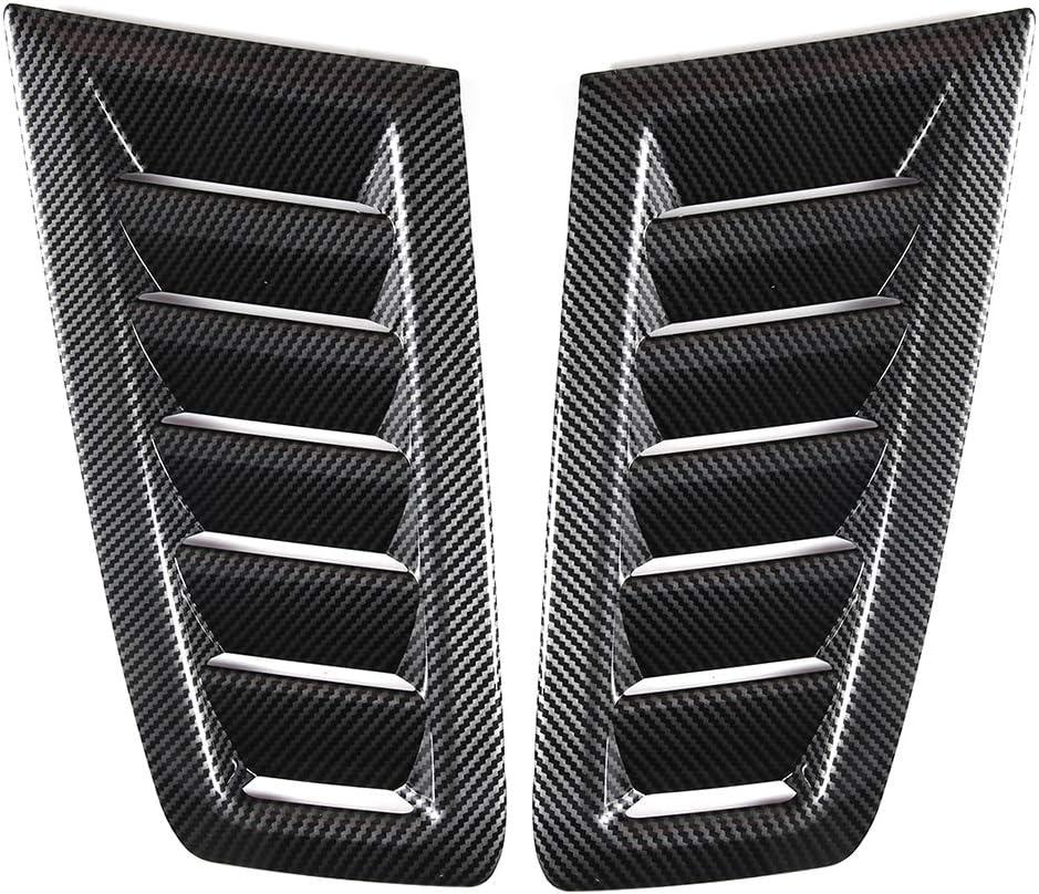 SANON ABS Del Coche Decorativo de Entrada de Flujo de Aire Scoop Cap/ó Turbo Cap/ó Cubierta de Ventilaci/ón Cap/ó Accesorio de Ventilaci/ón de Aire Modificado Accesorio para Fo-d Fo-us Rs Mk2