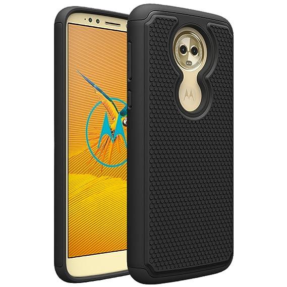 hot sale online 2efa3 6e857 Moto E5 Supra Case, Moto E5 Plus Case, OEAGO [Shockproof] Hybrid Dual Layer  Defender Protective Case Cover for Motorola Moto E5 Supra/Moto E5 Plus (E  ...