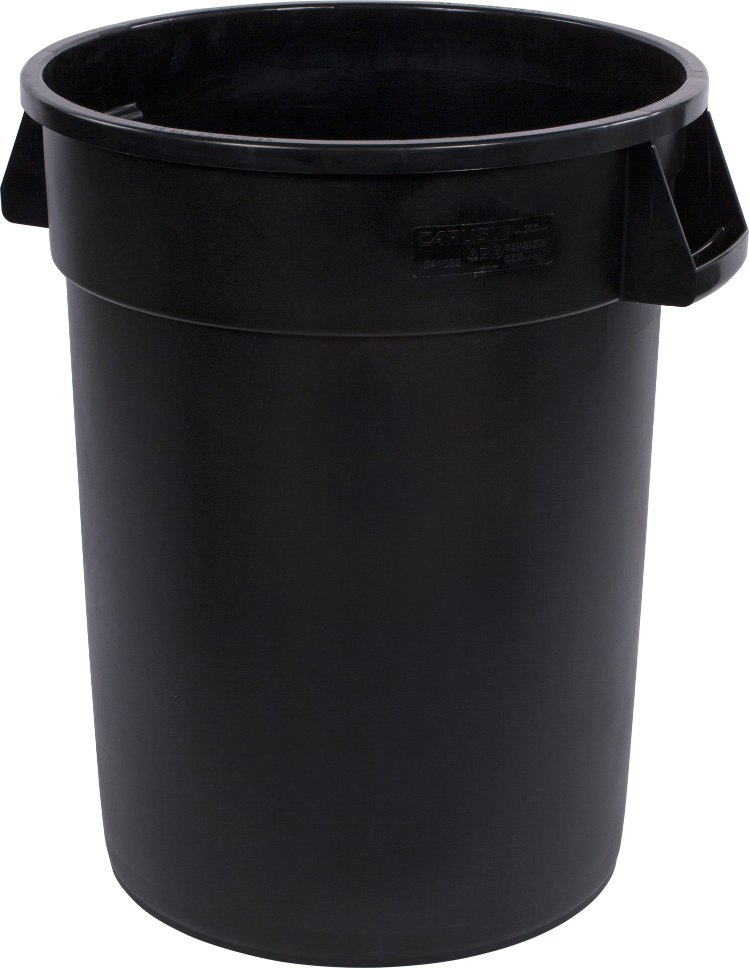 Carlisle 34103203 Bronco Round Waste Container Only, 32 Gallon, Black