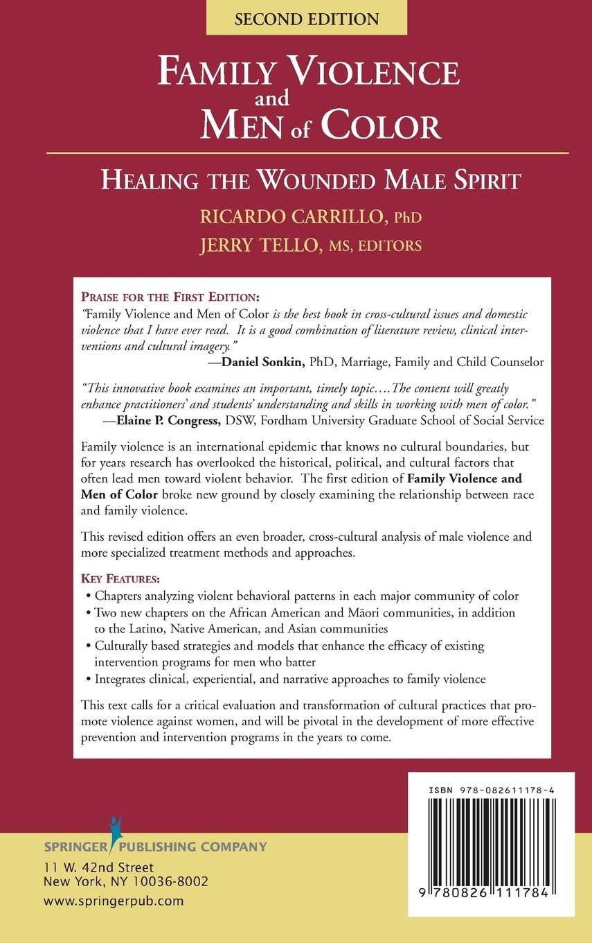 Family Violence and Men of Color Healing the Wounded Male Spirit ...