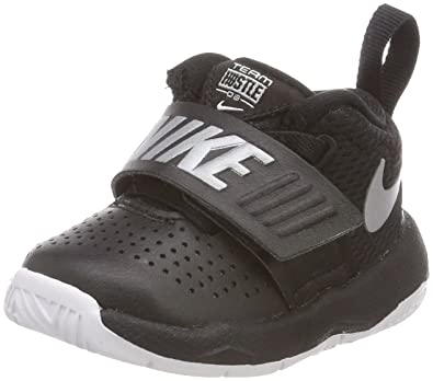 d582e993d49 Nike Toddler Team Hustle D 8 (TD) Black Metallic Silver White Size 4