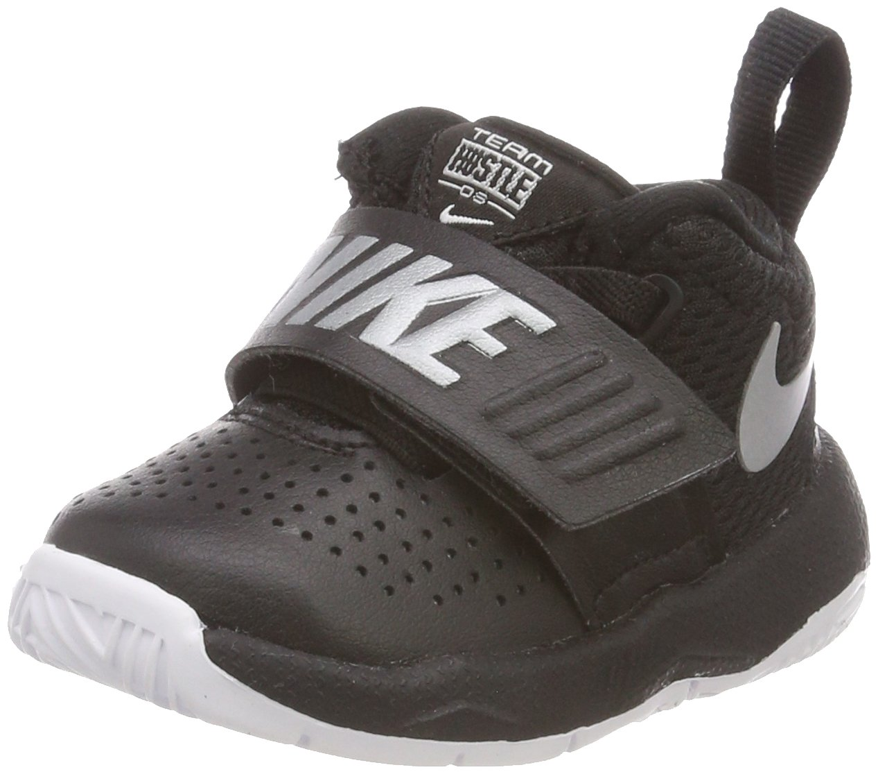 New Nike Baby Boy's Team Hustle D 8 Athletic Shoe Black/White 5