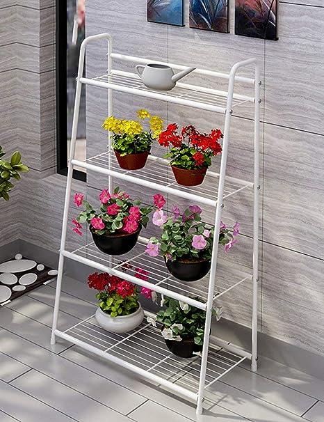 QiXian Estantes para Flores Planta Atre Hierro Múltiples Capas Estilo de Piso Estantes para Macetas Balcón Sala de Estar Estantes en Maceta Escalera Interior Estantes Ideal para Jardineros Regalo: Amazon.es: Deportes y