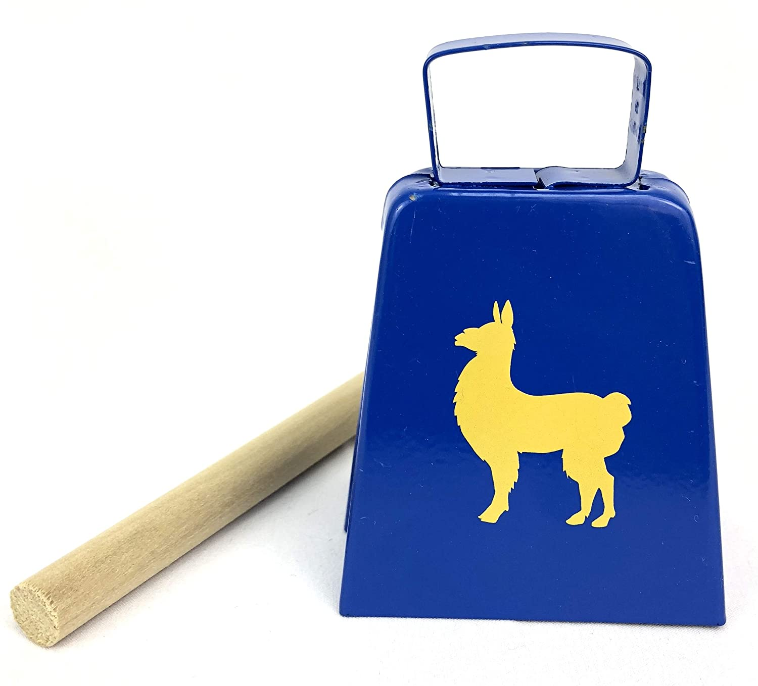 Llama Bell With Emote Hitting Stick Populuxe