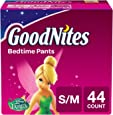 GoodNites Bedtime Bedwetting Underwear for Girls, S-M, 44 Count