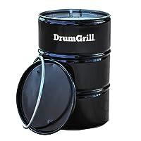 DrumGrill Grilltonne schwarz XXL Drum Balkon Garten ✔ rund ✔ Grillen mit Holzkohle