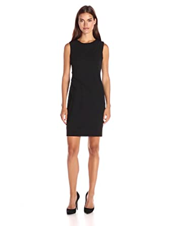 Amazon.com: Calvin Klein Women's Sheath Dress with Starburst ...