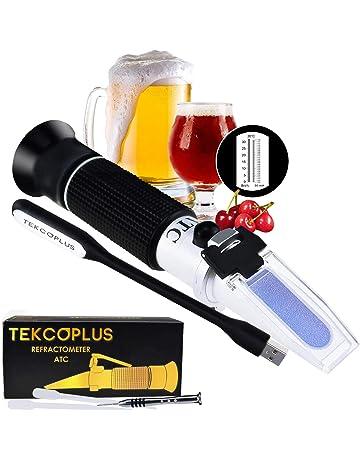 Brix Mosto De Cerveza Y Vino Refractómetro ATC Doble Escala 1.000-1.120 & Brix 0