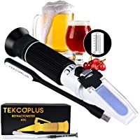 Brix Refractometer with ATC, range 0-32% Brix with 0.2% division, for brandy, beer, fruits, Cutting Liquid, with EXTRA LED light and pipettes