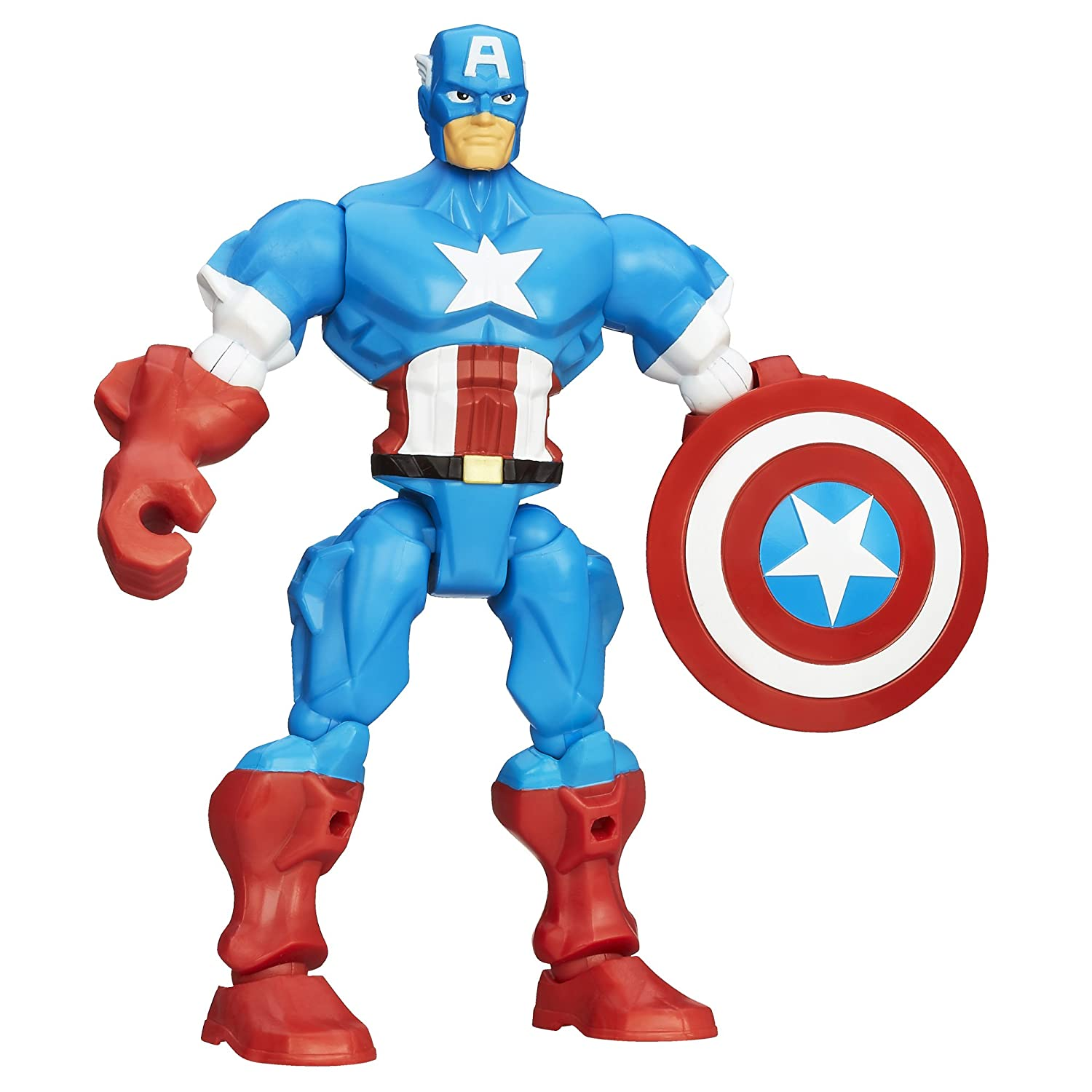 Amazon.com: Marvel Super Hero Mashers Captain America Figure 6 ...
