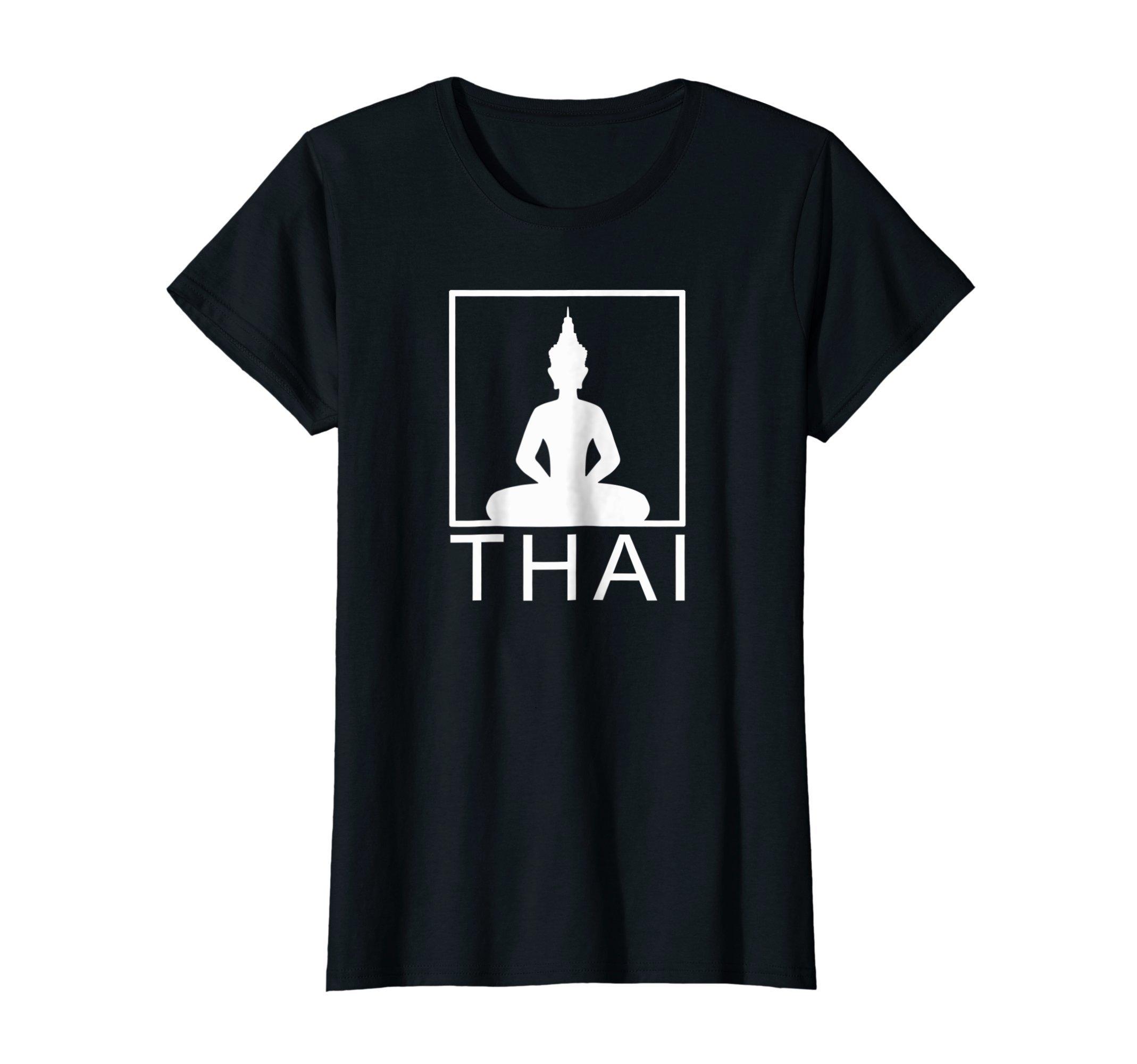 Womens Thai Buddha   Thailand   Box   T-Shirt   Gift Idea by Thai Designs by Chindavon