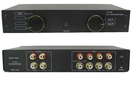 Amazoncom TC7240 4Way RCA Phono Line Amp Router Audio Switcher