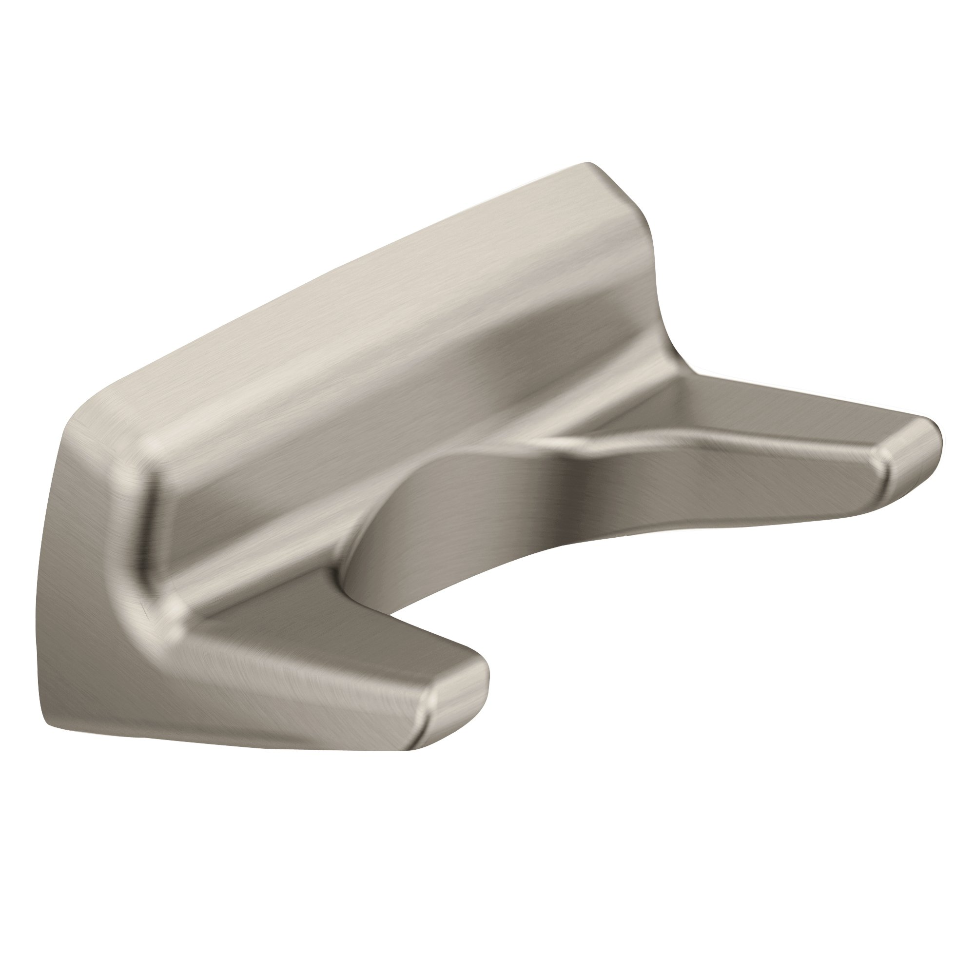 Moen P5030BN Donner Contemporary Double Robe Hook, Brushed Nickel