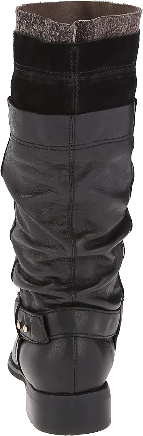 ALL BLACK Womens Layered 2 Motorcycle Boot