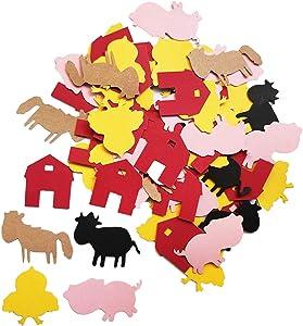 Farm Animal Confetti Barnyard Table Confetti Cow Farmhouse Barn Farm Animal Baby Shower Birthday Party Supplies Decorations Table Scatter Decor Photo Booth Props