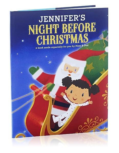 hallmark personalized books night before christmas girl