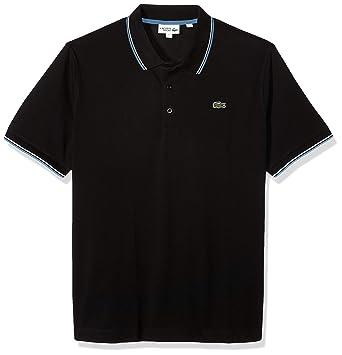 a8fd6468 Lacoste Men's Sport Short Sleeve Super Light SEMI Fancy Polo, Black/NEOTTIA/ White