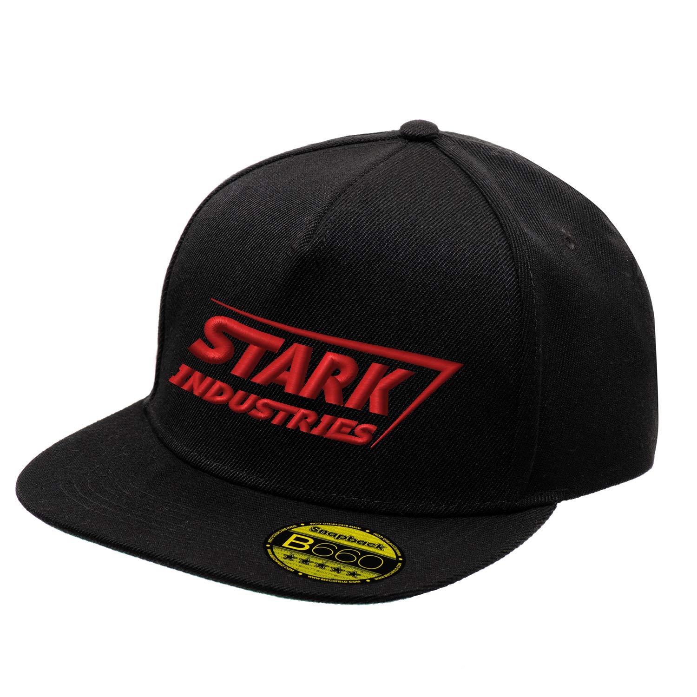 BroiderStudio Stark Industries Iron Man Super Hero Red Cappello Piatto con Visiera Aggiustabile Snapback Unisex Originale Ricamato Cappello Logo Urbano