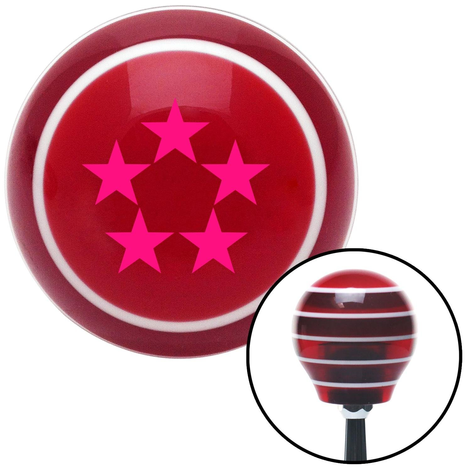 Pink Officer 11 - General of Air Force American Shifter 115246 Red Stripe Shift Knob with M16 x 1.5 Insert