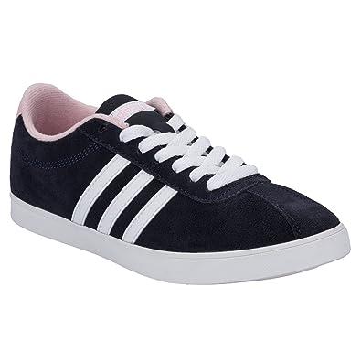 adidas neo court bleu rose