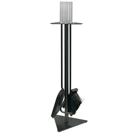 Kamino-Trend Cepillo Deshollinador para Limpiar Chimenea con Arandela Roscada M12, Acero, Negro