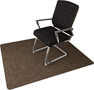 """Office Chair Mat for Hardwood Floor, Chair Mat Hard Floor Protector, 0.16"""" Thick 48""""x36"""" Chair Carpet Multi-Purpose for Desks, Office and Home (Brown)"""