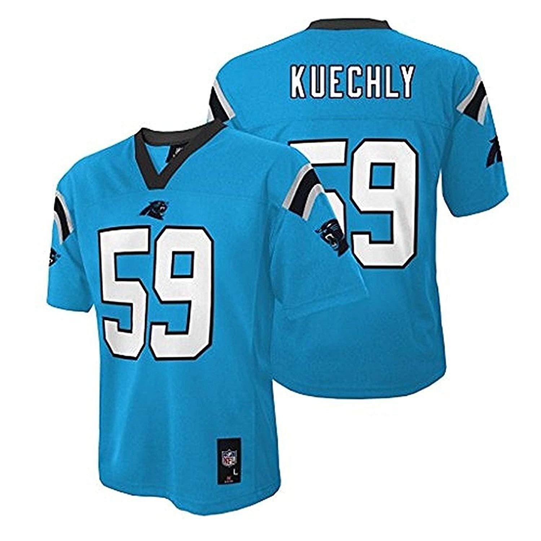 buy online b15d6 0e9cf Amazon.com: Luke Kuechly Carolina Panthers NFL Youth Aqua ...