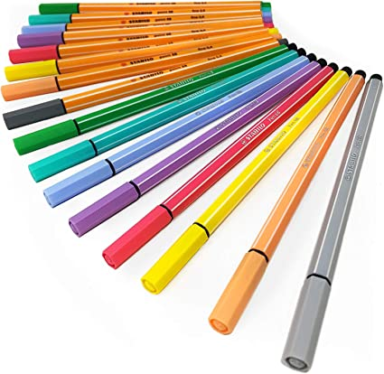 Portafoglio Di 8 Assortiti Colori Pastello Stabilo Punto 88 Fineliner 88//