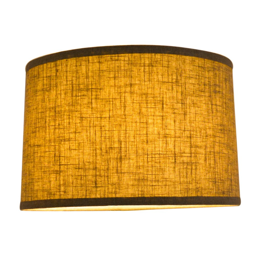 ce24d844908 Tootoo Star Fabric Natural Linen Drum Hand Crafted Large Lamp Shade  Lampshade for Chandeliers Floor Table larger image