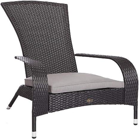 Amazon Com Fire Sense 62430 Black Coconino Wicker Chair Home Kitchen