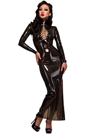Westward Bound Femme Fatale Humpeln Latex Gummikleid. Semi ...