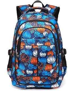 4583009ca04b Kids Backpack For Boys Elementary School Bags Bookbag Durable (Basketall)