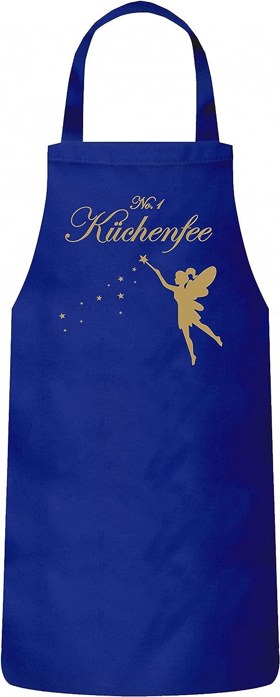 ShirtStreet Kochen Koch K/öchin K/üchen Party Frauen Herren Barbecue Baumwoll Grillsch/ürze Kochsch/ürze Fee No 1 K/üchenfee