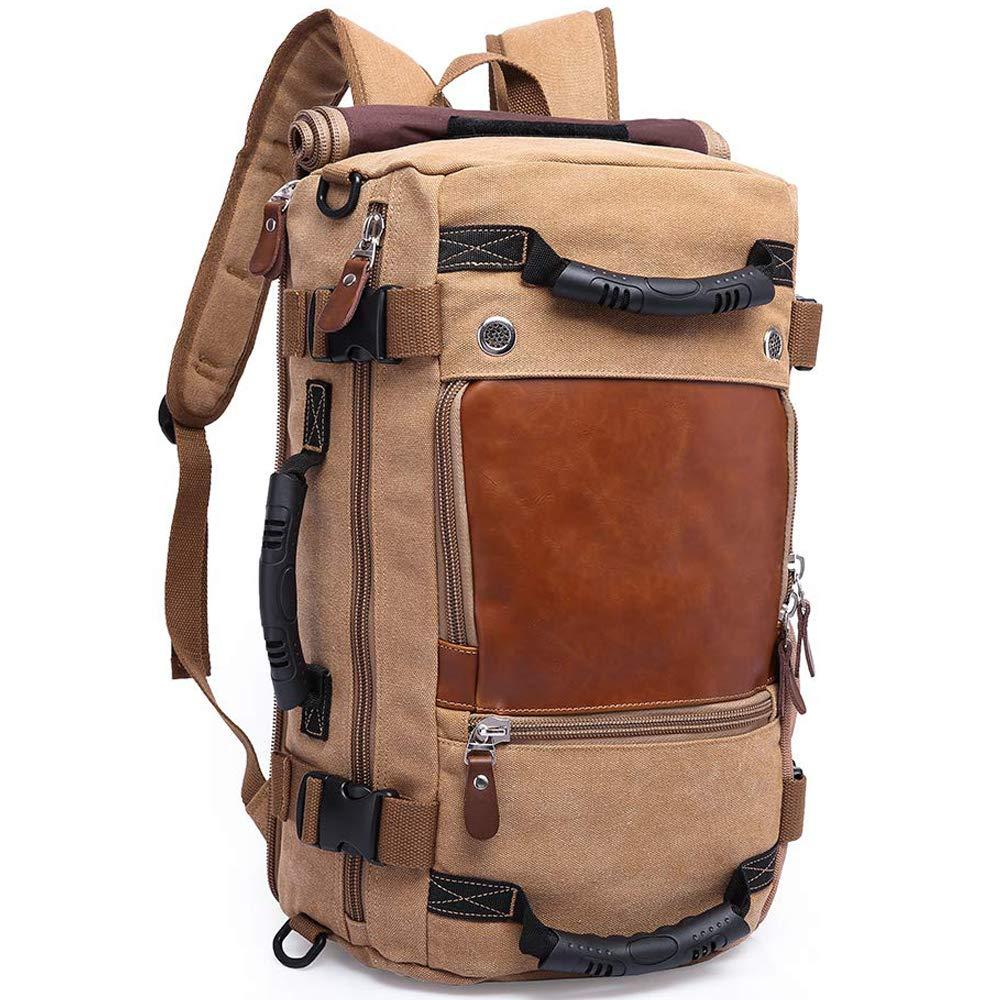 KAKA Backpack Fashion Unisex Travel Backpack Carry-On Bag Flight Approved Weekender Duffle Backpack Canvas Rucksack fit 15.6 inch Laptop (khiki) by KAKA