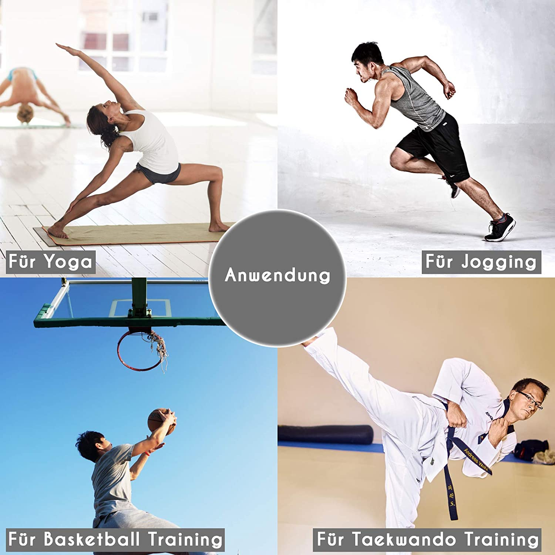 Sweatness Verstellbare Gewichtsmanschetten Fu/ßgewichte und Handgewichte in Schwarz inkl. Trainingsplan und Tragetasche 2 x 0,3-1,5kg