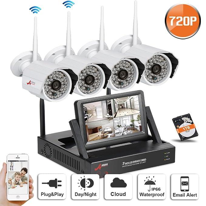 2 opinioni per SW Sistema Telecamere 4 CH Wifi NVR di sicurezza senza fili con 4 esterno HD